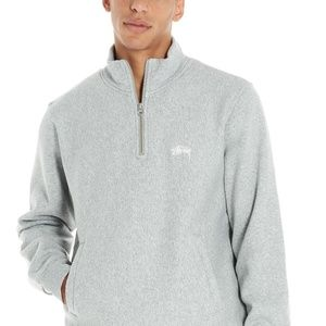 STUSSY Zip Up Sweatshirt Gray